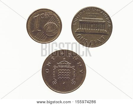 Vintage Coin Isolated
