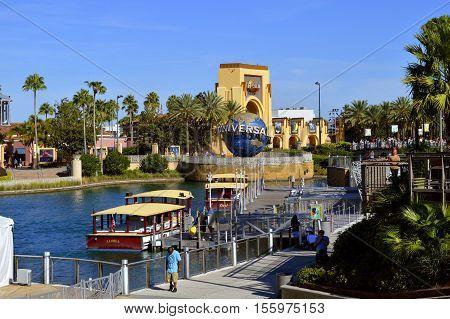 Universal Studios Resort Orlando Florida USA - October 24 2016: The Universal Orlando Resort adventure theme park in Orlando