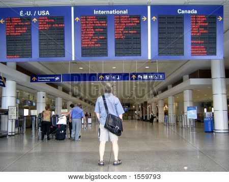 Checking-Out Airport Arrivals Monitor