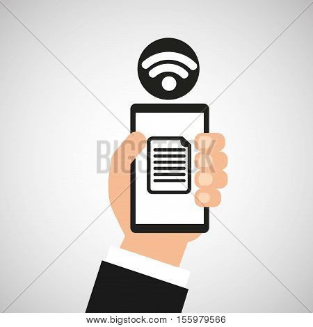 smartphone file internet wifi icon vector illustration eps 10