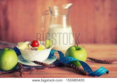 morning a healthy and wholesome breakfast to replenish reserves of energy for the whole day