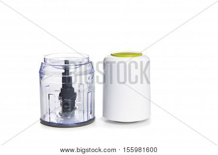 Electric Blender On A White Background.kitchen Concept