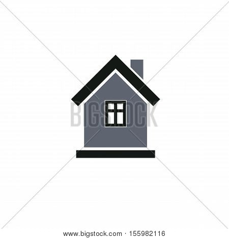 Simple house icon for graphic design mansion conceptual symbol vector property image. Real estate business abstract emblem.