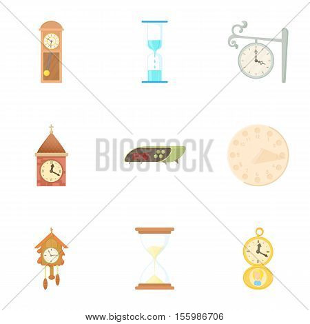 Chronometer icons set. Cartoon illustration of 9 chronometer vector icons for web
