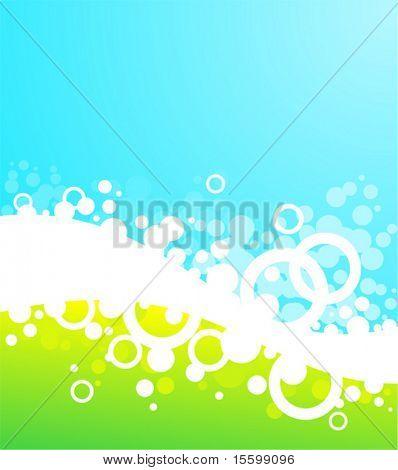 landscape bubble background