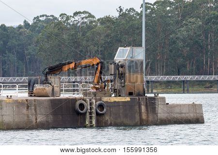 image of a view of port excavator loads