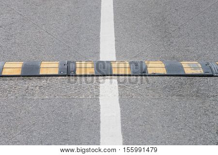 image of view of the speed bump closeup