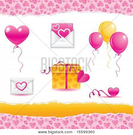 vector elements for valentine day, see also image 23114377