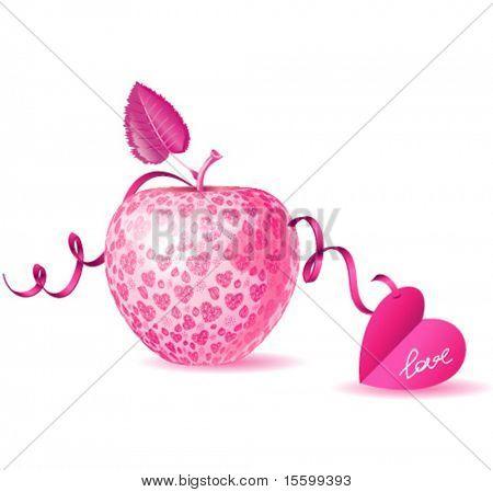vector eve apple sa a present on valentine's day