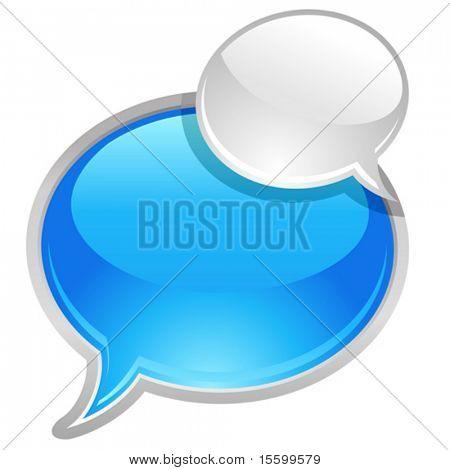 vector icon of bubbles