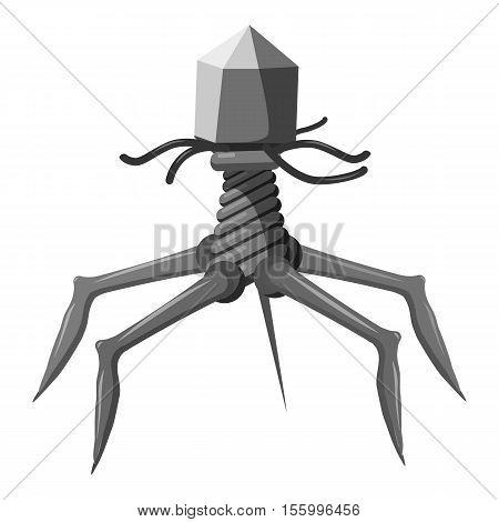 Complex viral shape icon. Gray monochrome illustration of bacteria vector icon for web design
