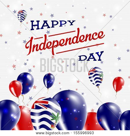 British Indian Ocean Territory Independence Day Patriotic Design. Balloons In National Colors Of The