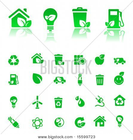 vector green-icons set