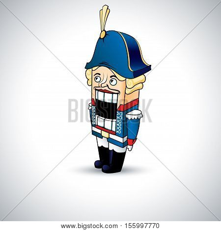 nutcracker vector illustration in cartoon style isolation from the background