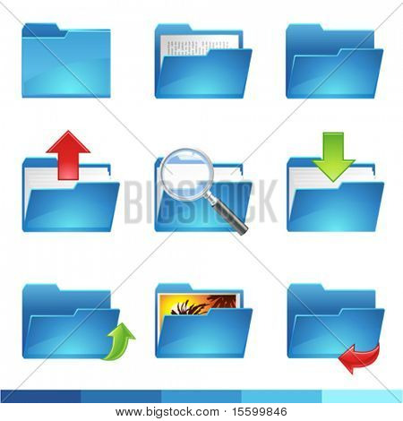 9 vector folder icons set1