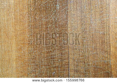 old wood board closer texture background with cracked lacquer