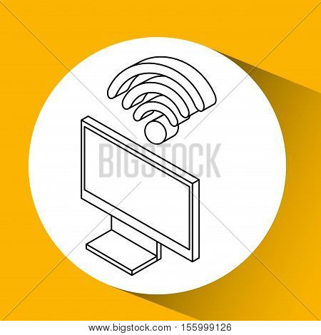 tv plasma wifi internet design vector illustration eps 10