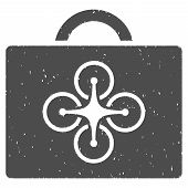 Drone Toolcase rubber seal stamp watermark. Icon symbol with grunge design and dirty texture. Scratched vector gray ink sticker on a white background. poster