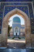 Guri Amir is a mausoleum of the Asian conqueror Tamerlane (also known as Timur) in Samarkand Uzbekistan poster