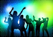 Party People Dancing - vector illustration poster