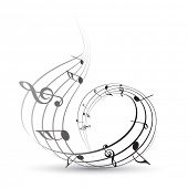 vector music note background illustration poster