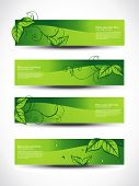 eco set of headers with four different style poster