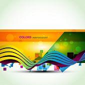 colorful banner vector design. Eps10 illustration poster