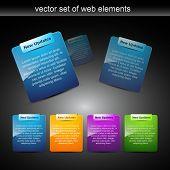 website elements design elements label poster