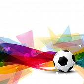 beautiful football vector design art poster