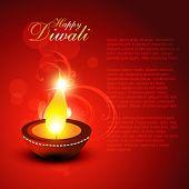 beautiful diwali vector background poster