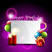 stylish happy birthday design art poster