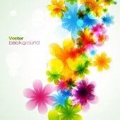 stylish colorful flower. Eps10 vector poster