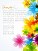 stylish beautiful flower background with space for your text poster