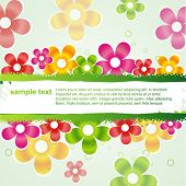 vector  stylish colorful flower background with space for your text poster