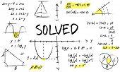 Methematics Math Algebra Calculus Numbers Concept poster