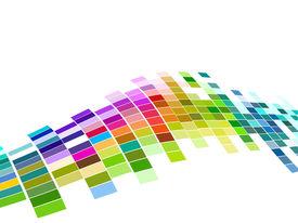 vetor projeto do teste padrão de mosaico colorido