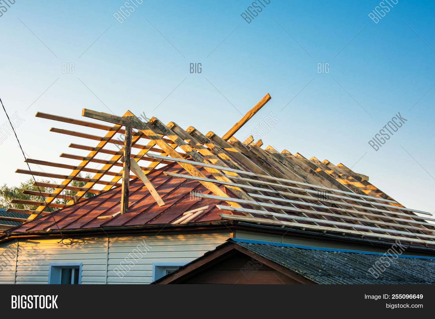 Wooden Roof Frame Image Photo Free Trial Stock