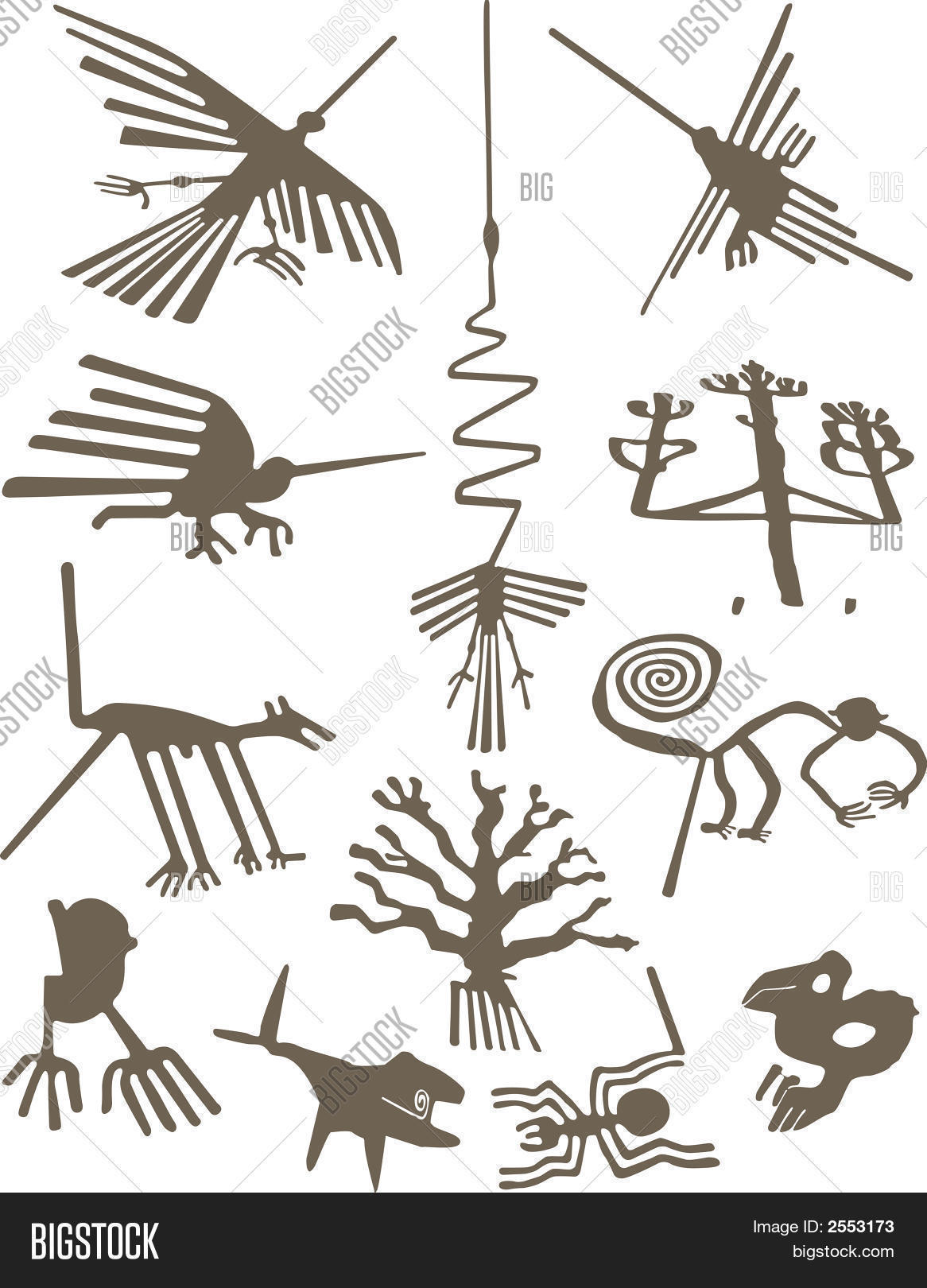 Nazca Lines Vectors Wiring Diagrams Golf Jetta 2 Gtgt Symbols Used On The Vector Photo Free Trial Bigstock Rh Bigstockphoto Com