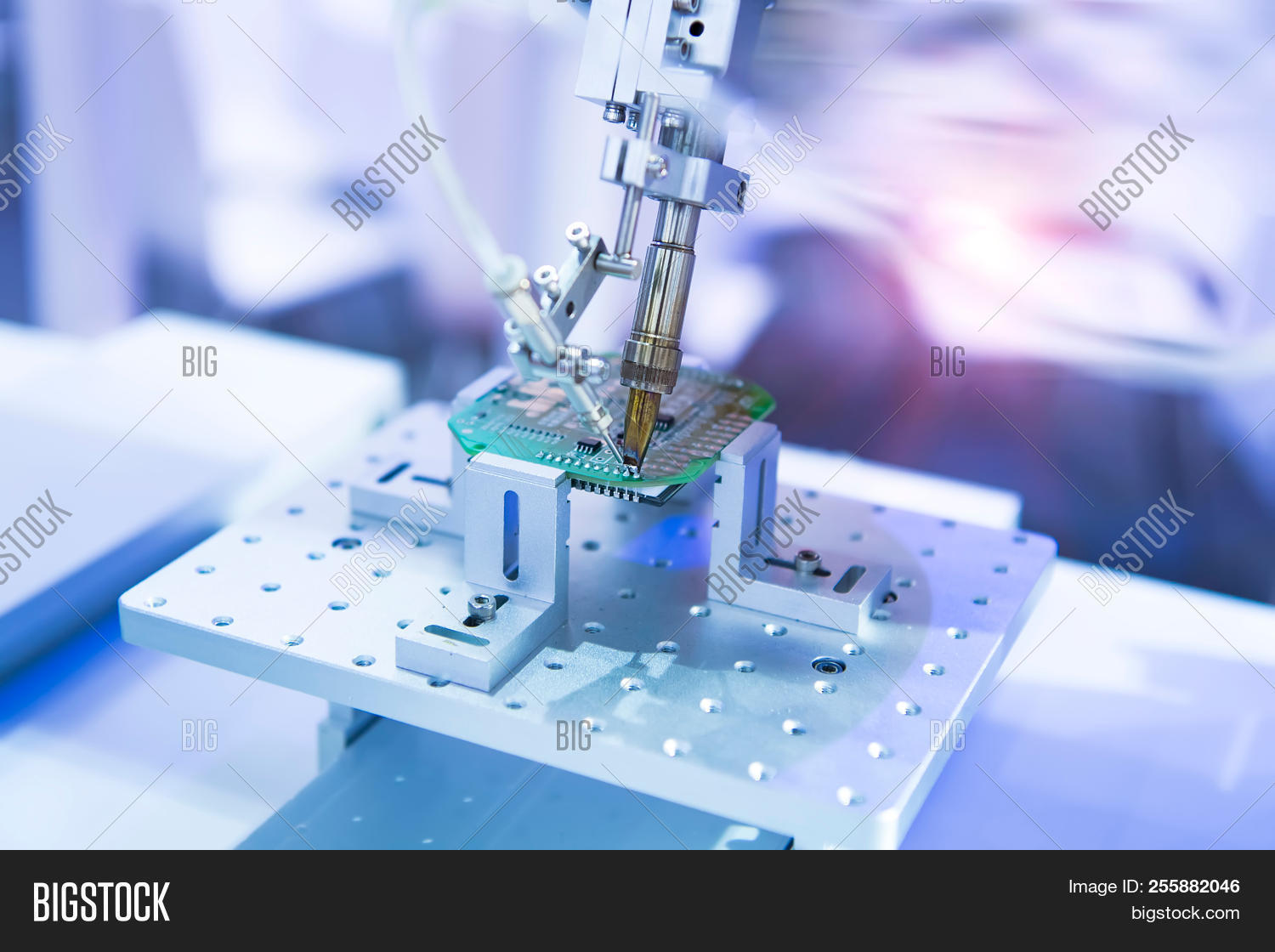 Soldering Iron Tips Image Photo Free Trial Bigstock Printedcircuitboardassemblylargejpg Of Robotic System For Automatic Point Printed And Assembly Electric Circuit
