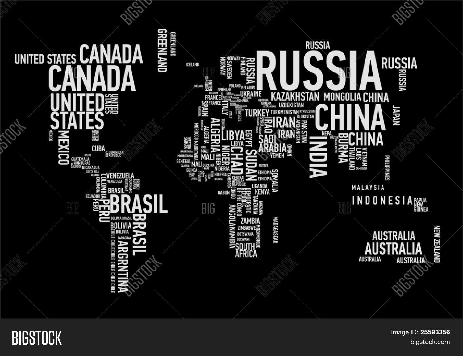 World map countries vector photo free trial bigstock world map countries in wordcloud gumiabroncs Images