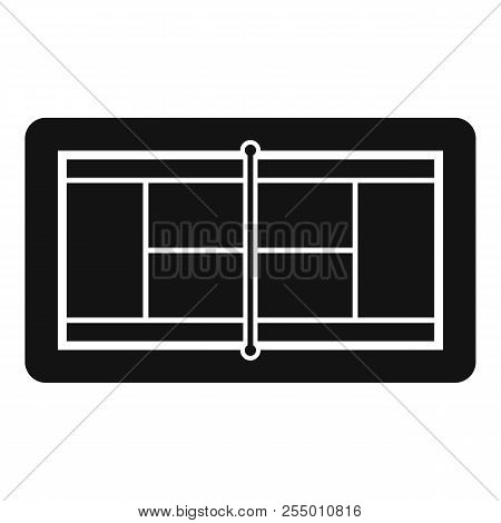 Tennis Court Icon. Simple Illustration Of Tennis Court Icon For Web