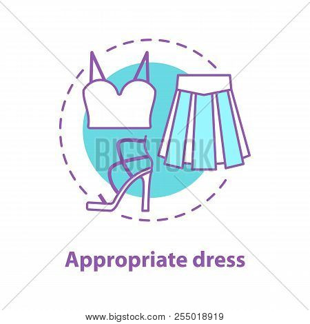 Appropriate Dress Concept Icon. Informal Wear Idea Thin Line Illustration. Holiday Clothes. Crop Top