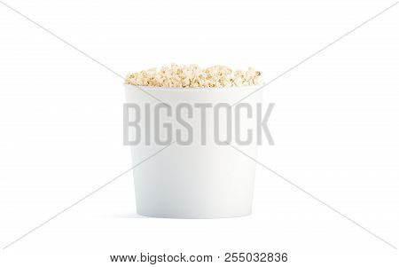 Blank white popcorn image photo free trial bigstock blank white popcorn bucket mockup isolated 3d rendering clear pop corn pail mockup fastfood maxwellsz