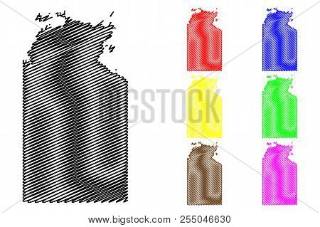 Northern Territory (australian States And Territories, Nt) Map Vector Illustration, Scribble Sketch