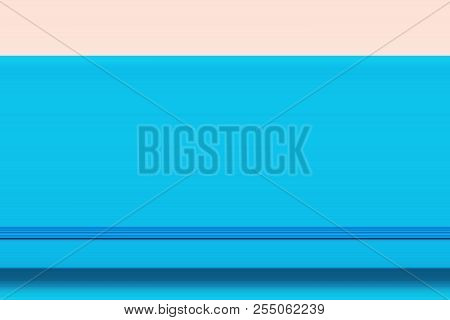 Abstract Digital Business Background Blue Day Planner With Elastic Band On Pale Pink Backdrop. Femin