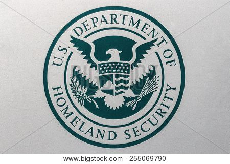 Indianapolis - Circa August 2018: Logo And Seal Of The United States Department Of Homeland Security