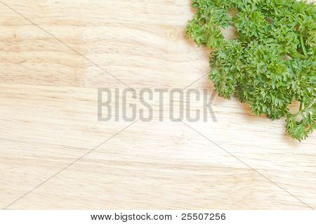Fresh Parsley On A Cutting Board