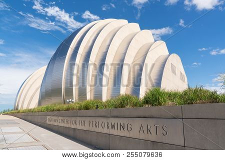 Kansas City, Mo - June 20, 2018: Kauffman Center For The Performing Arts In Kansas City Was Complete