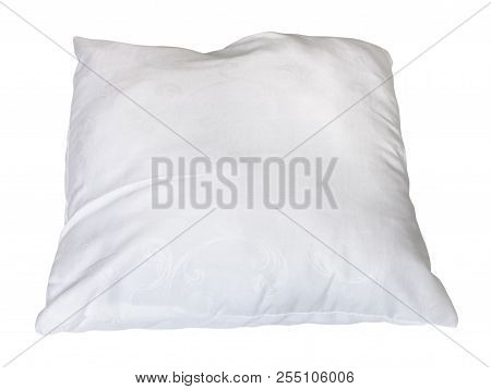 White Soft Pillow Isolated On White Background
