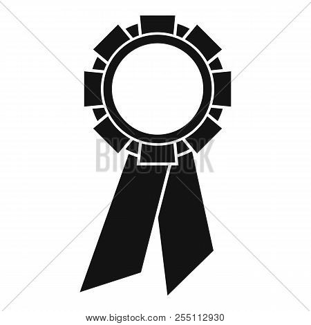 Champion Medal Icon. Simple Illustration Of Champion Medal Icon For Web